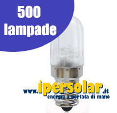 Set ricambio 500 lampadine votive LED 24V - 0,50 W
