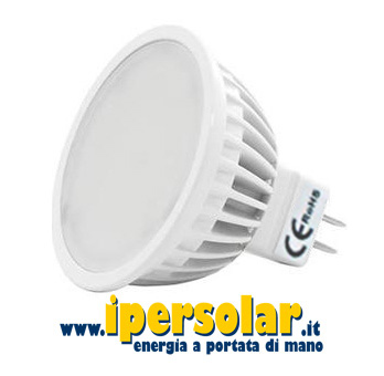 Faretto led mr16 luce bianca fredda 4w 12v attacco gu5 3 for Lampadine led 3 volt