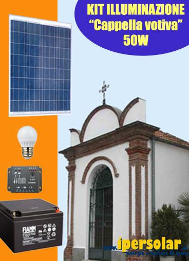 Kit Luce Pannello Solare : Kit solare illuminazione cappella votiva led w