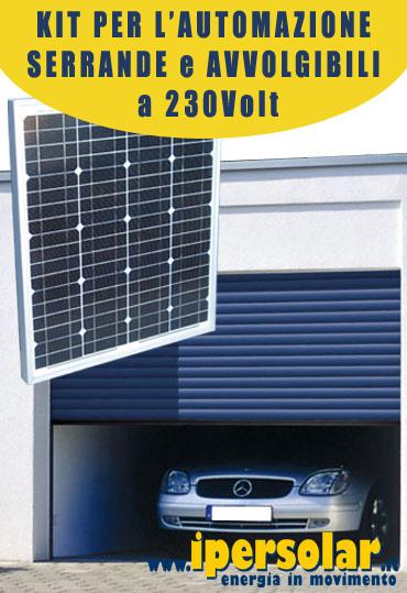 Schema Elettrico Per Serrande : Kit solare automazione serrande v con inverter w base