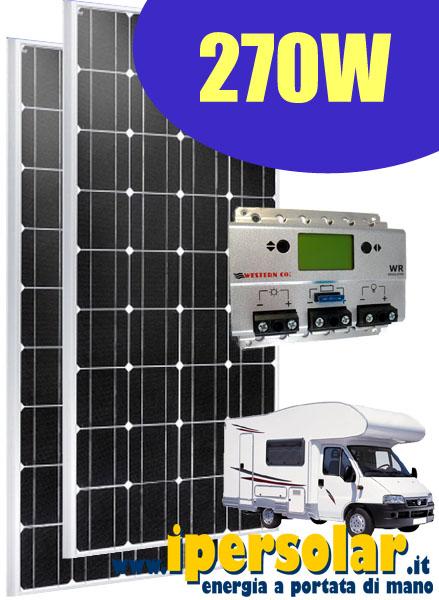 Kit Pannello Solare Con Accumulatore : Kit fotovoltaico per camper baite barche vendita online