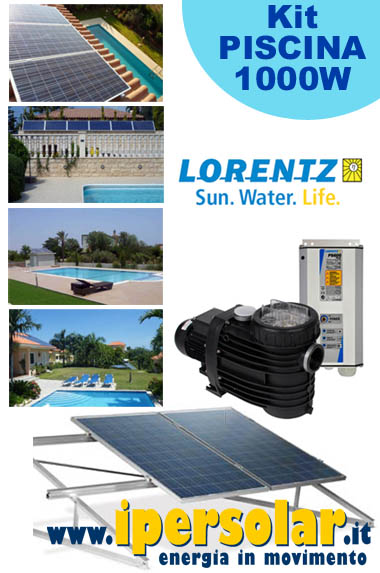 Kit fotovoltaico PISCINA 100-120mc - pompa LORENTZ PS2-600 POOL