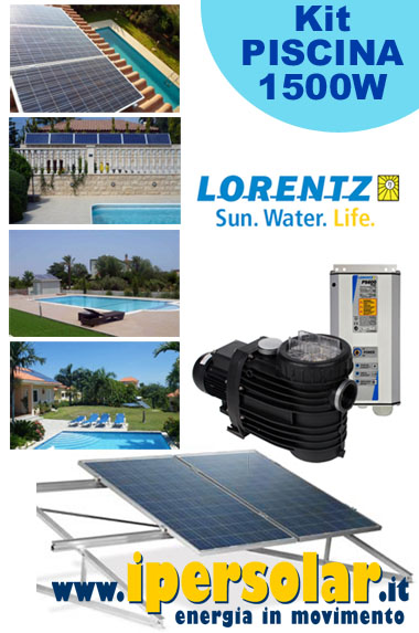 Kit fotovoltaico PISCINA 150-180mc -pompa LORENTZ PS2-1800 POOL