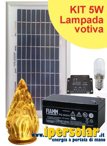 Illuminazione solare fotovoltaica da giardino for Lampade votive a led