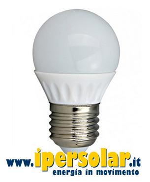 Lampadina led a bulbo 4w 12v 24v luce naturale attacco for Lampade a led e 27