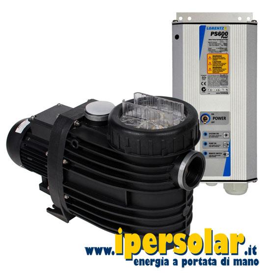 Pompa solare per piscina lorentz ps600 cs 17 1 1 345 for Pompe per laghetti artificiali