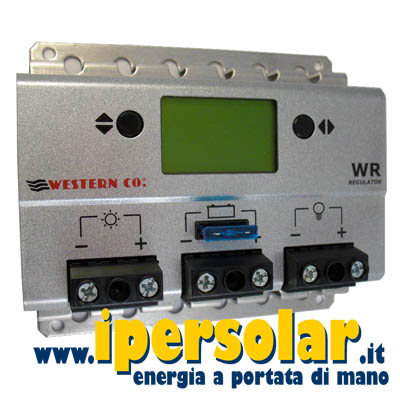 Regolatore di carica WR30 Western Co da 30A con display - PWM