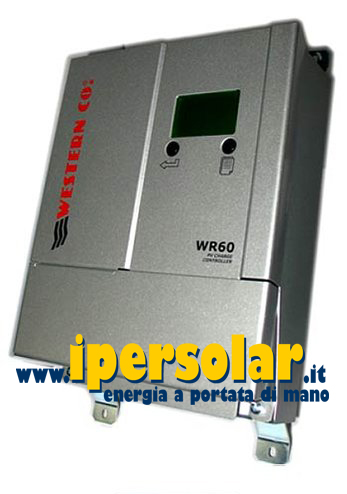 Regolatore di carica WR60 Western Co da 60A 12/24/48V + display