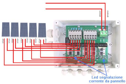 Schema Cablaggio Cavo Telefonico : Scatola di giunzione western co per moduli fotovoltaici