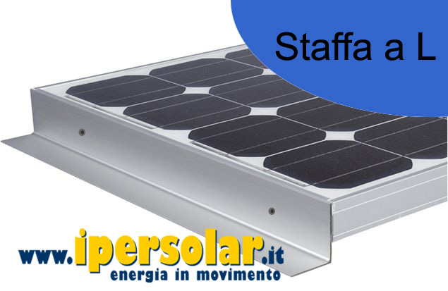 Staffe a 'L' in alluminio 360 mm per pannelli SUNERGY Mod. SLIM