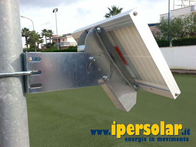 Fissaggio Pannello Solare Flessibile : Supporto fissaggio da palo per pannelli fotovoltaici w
