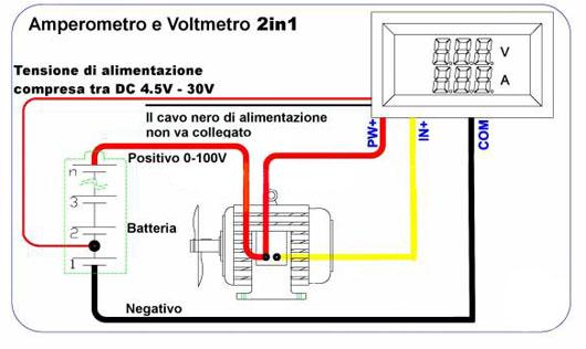 Schema Montaggio Pannello Solare Zaino : Voltmetro e amperometro in pagina solare fotovoltaico