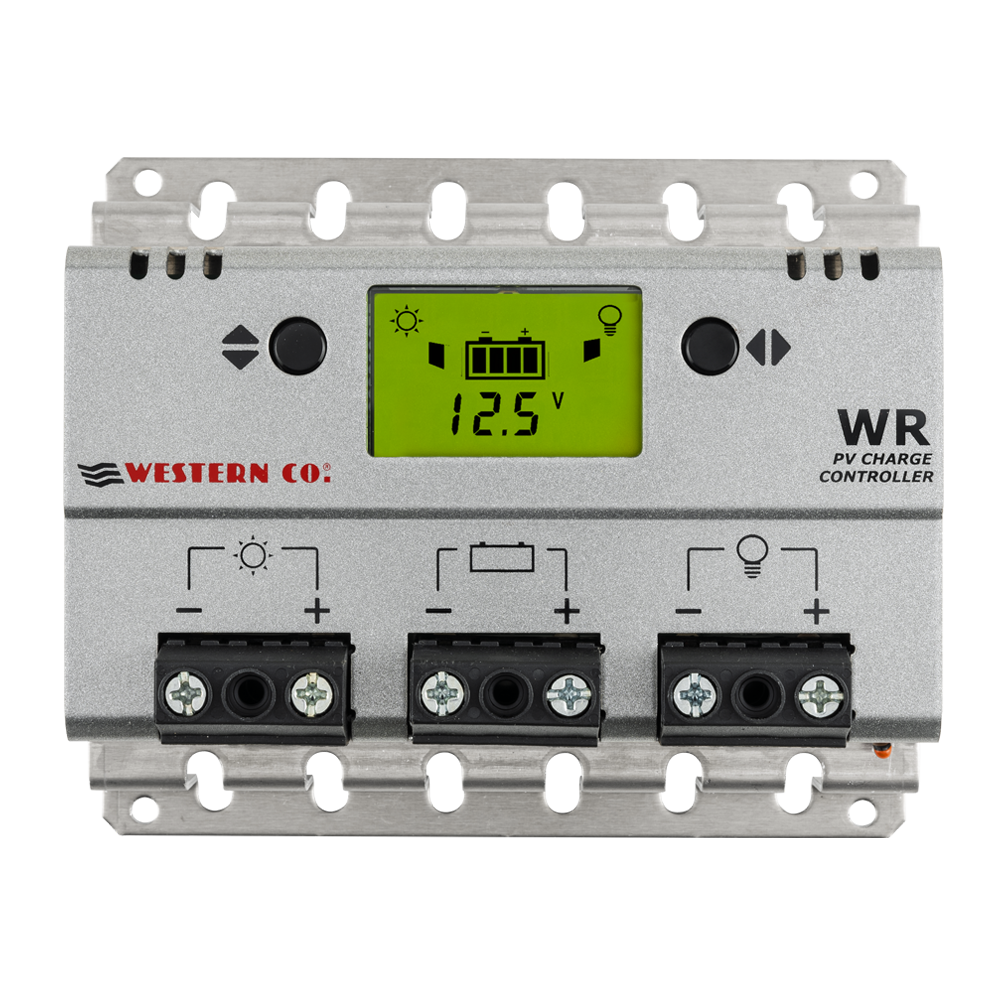 Regolatore di carica WR10 Western Co da 10A con display PWM