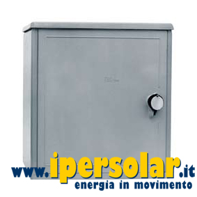 Armadio porta batteria in vetroresina 550x540 mm con serratura