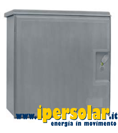 Armadio porta batterie in vetroresina 610x609 mm con serratura