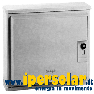 Armadio porta batteria in vetroresina 610x714 mm con serratura