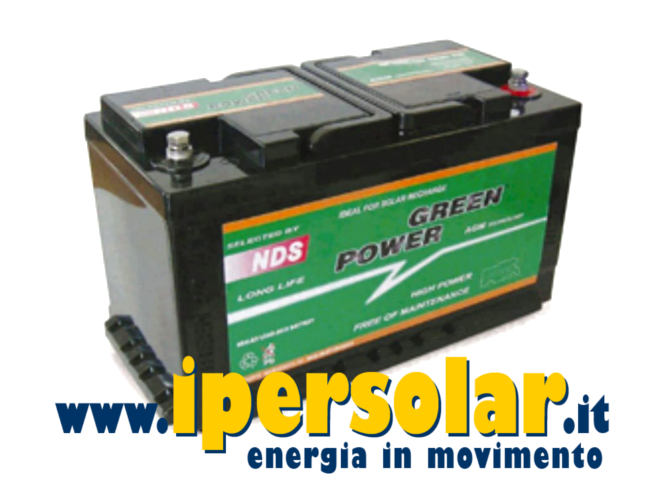 Batteria AGM camper GP100 GREEN POWER 12V 100Ah
