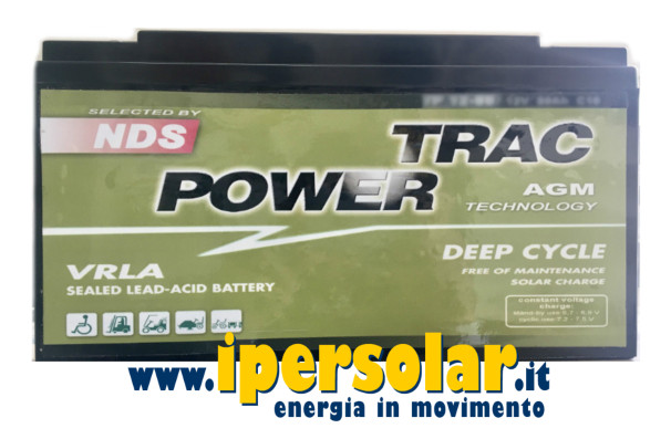 Batteria DEEP CYCLE 120Ah 12V - TRAC POWER NDS camper