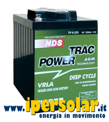 Batteria AGM TRAC POWER 12V 120Ah DEEP CICLE NDS