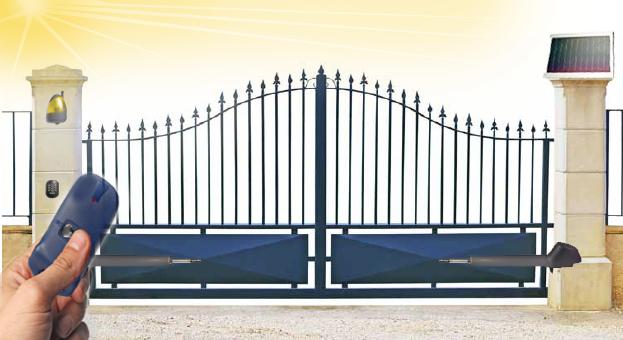 Cancello A Due Ante Battenti.Kit Apricancello Solare Per Cancello A 2 Battenti Max 500kg