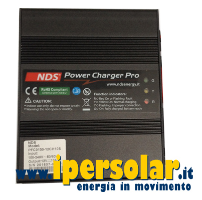 Caricabatterie professionale NDS 12V 10A