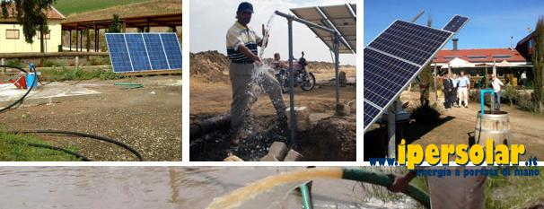 Pannello Solare Per Pompa Pozzo : Kit fotovolaici pompaggio acqua