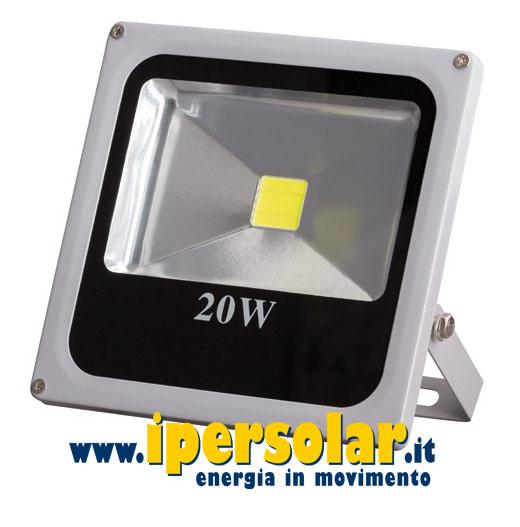 Faretto led 12v 24v 20watt luce fredda 6500k modello slim for Faretto led 12v