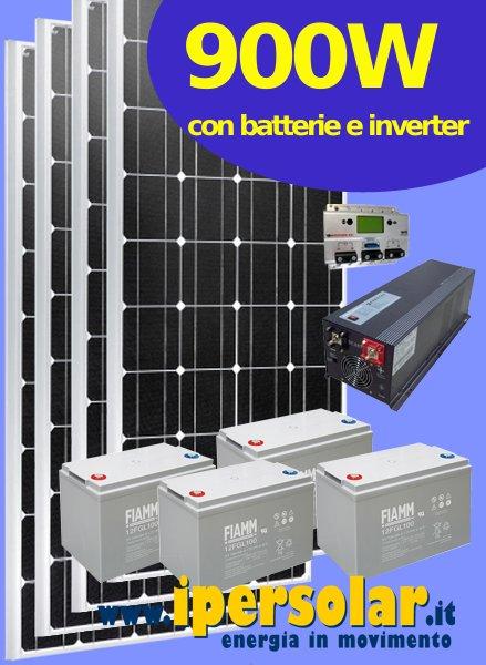 Kit Pannello Solare Con Inverter : Kit fotovoltaico per baite