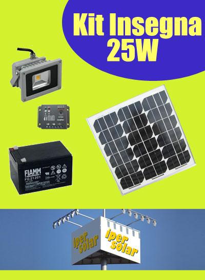 Kit Pannello Solare Led : Insegne fotovoltaiche