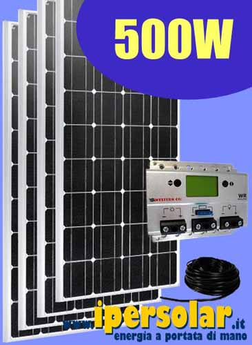 Kit Pannello Solare Con Accumulatore : Kit fotovoltaico per baite