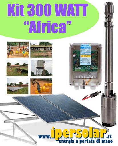 Kit Pannello Solare Acqua : Kit fotovoltaico pompaggio acqua w pozzo africa max