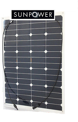 Pannello fotovoltaico FLESSIBILE 65W 12V con celle SUNPOWER