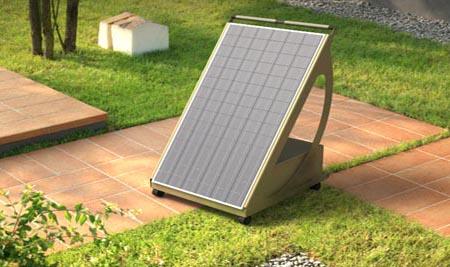 Pyppy 1200w generatore mobile su ruote con modulo fotovoltaico