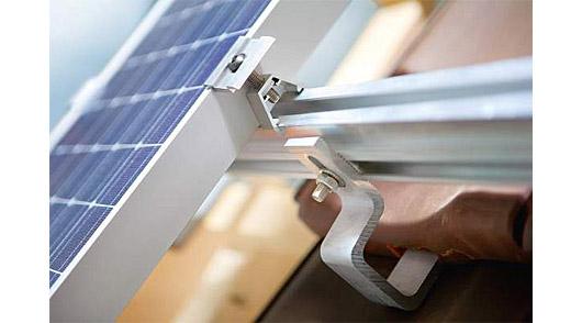 Supporto di fissaggio tetto a falda per n 1 pannello for Tettoia inclinata del tetto